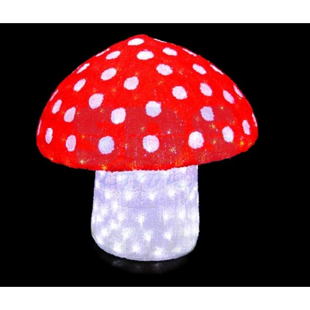 Акриловая фигура Мухомор 60 см, 240 светодиодов , понижающий трансформатор в комплекте, Neon Night 513-255