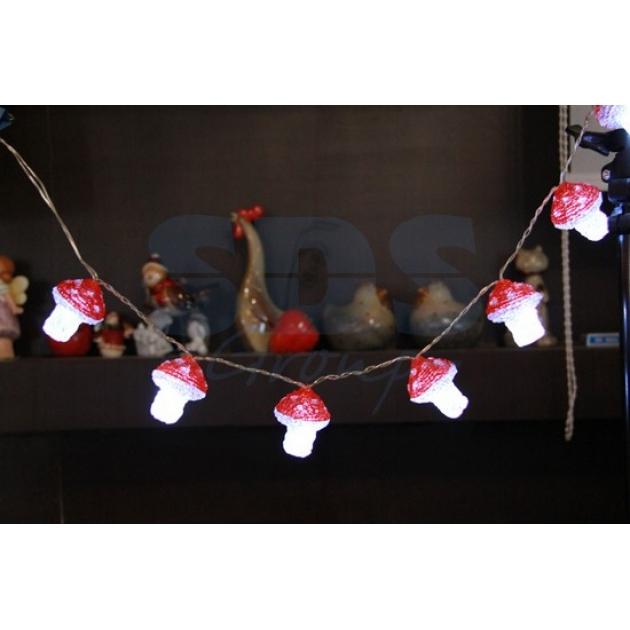 Акриловая фигура Клубника 8 шт, 6 см, 8 светодиодов, понижающий трансформатор в комплекте, Neon Night 513-258