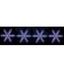 Акриловая фигура на каракасе 4 снежинки Ø 80 см, 458 светодиодов, понижающий тра...