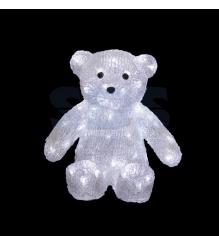 Акриловая фигура Медвежонок 30 см, 80 светодиодов, понижающий трансформатор в ко...