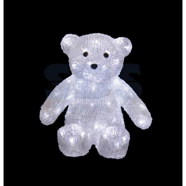 Акриловая фигура Медвежонок 30 см, 80 светодиодов, понижающий трансформатор в комплекте, Neon Night 513-268