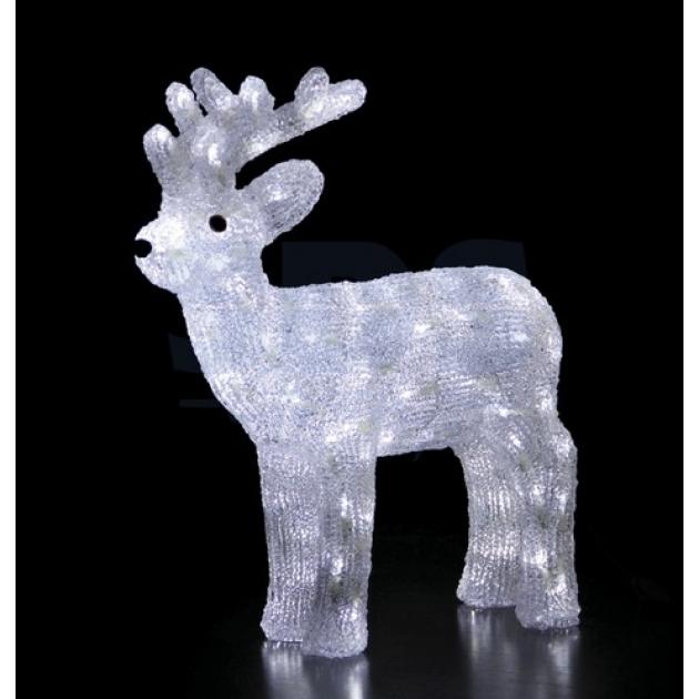 Акриловая фигура Северный олень 45 см, 100 светодиодов, понижающий трансформатор в комплекте, Neon Night 513-270