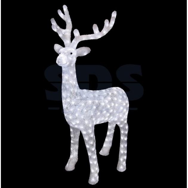 Акриловая фигура Северный олень 130 см, 380 светодиодов, понижающий трансформатор в комплекте, Neon Night 513-271