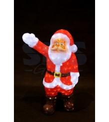 Акриловая фигура Санта Клаус приветствует 60 см, 200 светодиодов, понижающий тра...