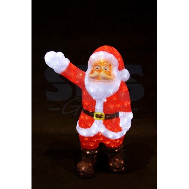 Акриловая фигура Санта Клаус приветствует 60 см, 200 светодиодов, понижающий трансформатор в комплекте, Neon Night 513-272