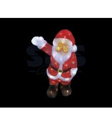 Акриловая фигура Санта Клаус приветствует 30 см, 40 светодиодов, понижающий тран...