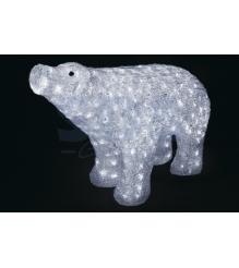 Акриловая фигура Белый медведь 80*55 см, понижающий трансформатор в комплекте, N...