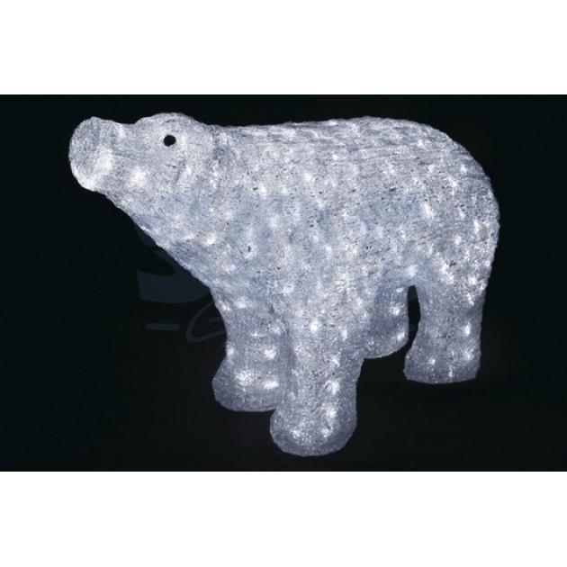 Акриловая фигура Белый медведь 80*55 см, понижающий трансформатор в комплекте, Neon Night 513-302