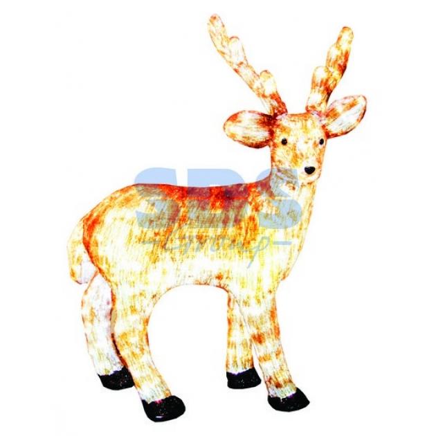 Акриловая фигура Бурый олень 100 см, 380 светодиодов, понижающий трансформатор в комплекте, Neon Night 513-305