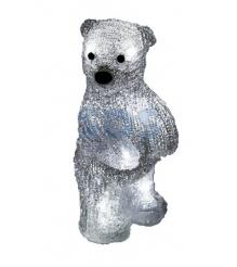 Акриловая фигура Медвежонок 12х22х13 см, 4,5 В, 3 батарейки AAA не входят в комп...