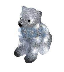 Акриловая фигура Медвежонок 17х24х29 см, 4,5 В, 3 батарейки AA не входят в компл...