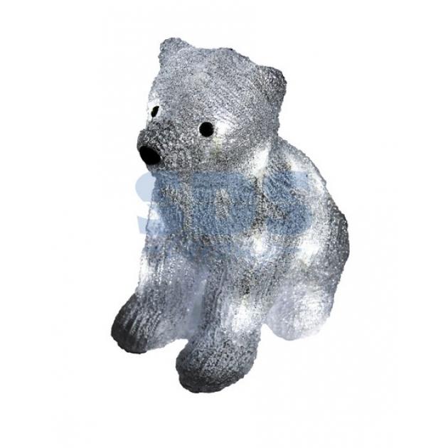 Акриловая фигура Медвежонок 17х24х29 см, 4,5 В, 3 батарейки AA не входят в комплект, 20 светодиодов, Neon Night 513-313