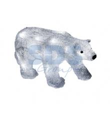 Акриловая фигура Медведь 34,5х12х17 см, 4,5 В, 3 батарейки AA не входят в компле...