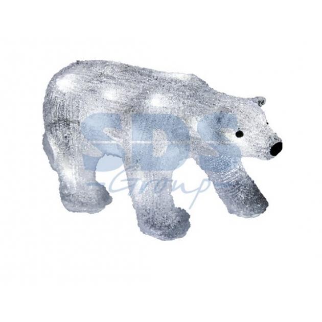 Акриловая фигура Медведь 34,5х12х17 см, 4,5 В, 3 батарейки AA не входят в комплект, 24 светодиода, Neon Night 513-315