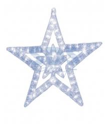 Акриловая фигура Звезда 62 см, 62х59х2,5см, 63 светодиода, понижающий трансформатор в комплекте, Neon Night 513-343