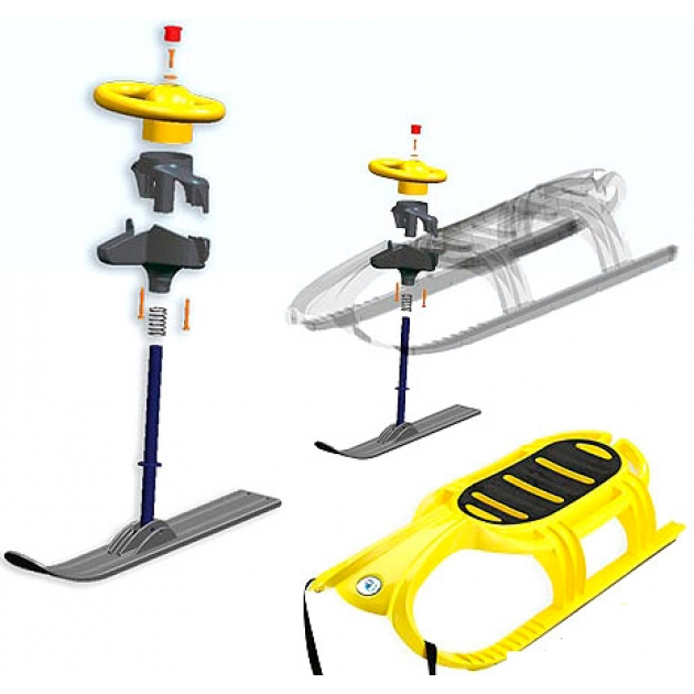 Комплект руля и лыж для санок Papajoy KHW Tiger De Luxe 32892