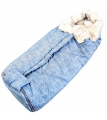 Меховой конверт Papajoy Kristy Премиум овчина с меховой опушкой...
