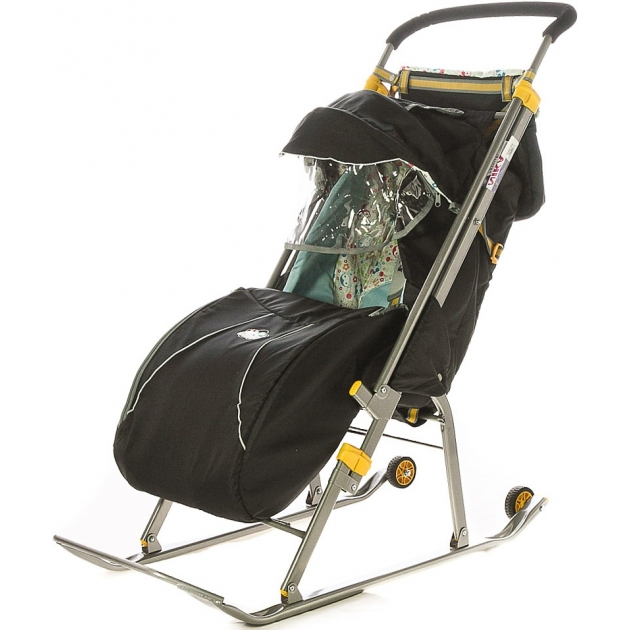 Детские санки коляска Papajoy Ника Детям 1 с колесиками