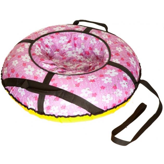 Тюбинг Papajoy SnowDream Glamour Mini 80 розовый 33055