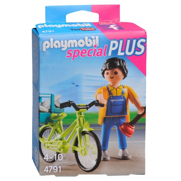 Экстра-набор Playmobil Мастер с инструментами на велосипеде 4791pm