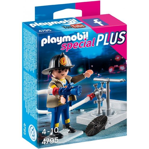 Экстра-набор Playmobil Пожарник с гидрантом 4795pm