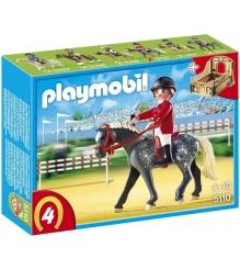 Playmobil серия конный клуб Трекерная лошадь со стойлом 5110pm...