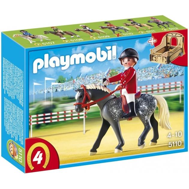 Playmobil серия конный клуб Трекерная лошадь со стойлом 5110pm