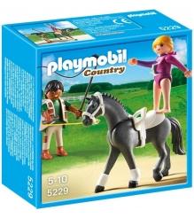 Playmobil серия конный клуб Наездница эквилибристка на лошади 5229pm...