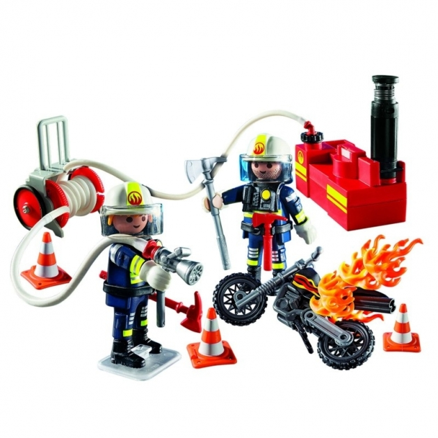 Пожарная служба Playmobil Пожарники с водяным насосом 5365pm