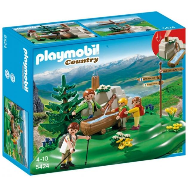 Playmobil В горах Семья альпинистов у горного ручья 5424pm