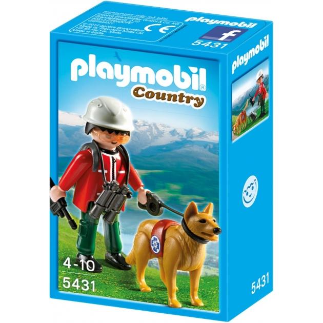 Playmobil В горах Спасатель с собакой 5431pm