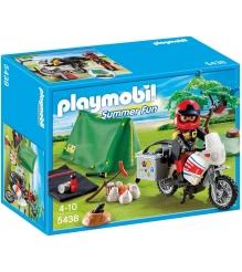 Playmobil серия каникулы Мотоциклист со складной палаткой 5438pm...