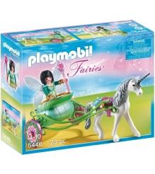 Playmobil Сказочный дворец Карета с Единорогом и фея бабочка 5446pm...