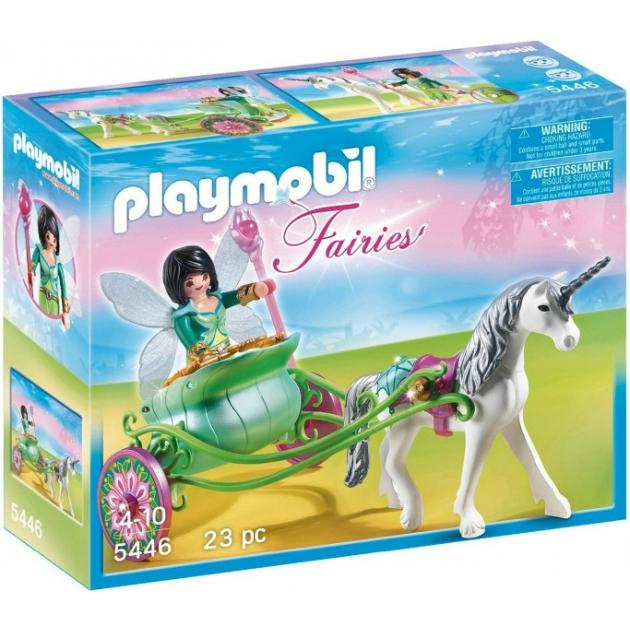 Playmobil Сказочный дворец Карета с Единорогом и фея бабочка 5446pm