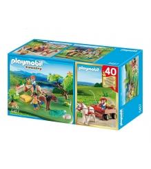 Playmobil серия конный клуб Набор пони и повозка 5457pm...