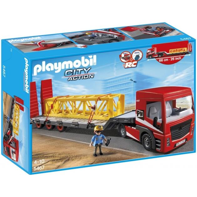 Playmobil серия стройплощадка Большой грузовик грузовая платформа 5467pm