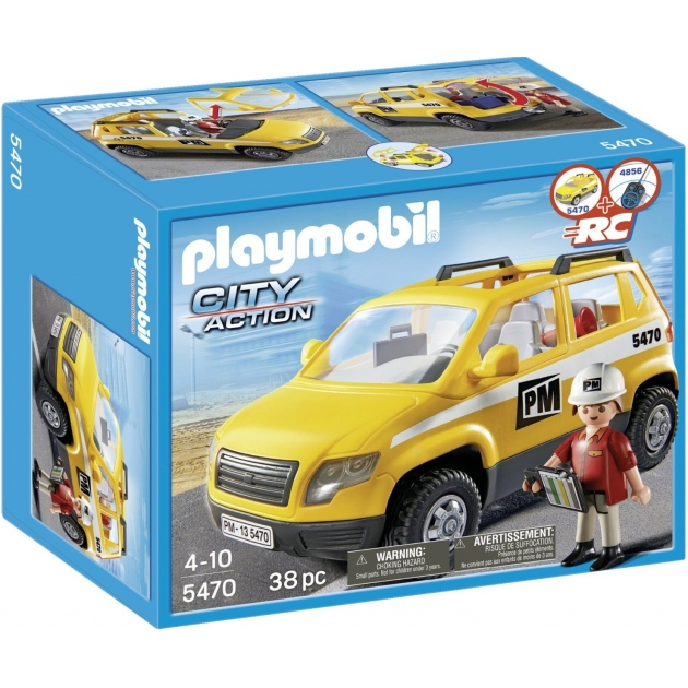 Playmobil серия стройплощадка Автомобиль начльника участка 5470pm