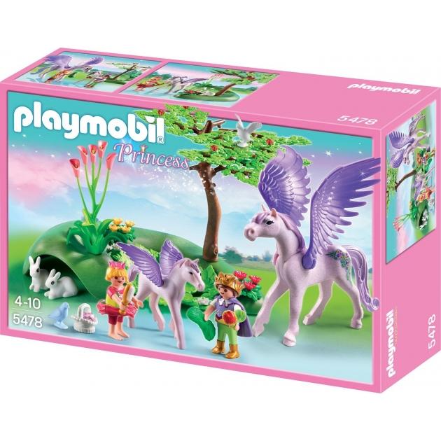 Playmobil Замок кристалла Королевские дети и маленький пегас 5478pm
