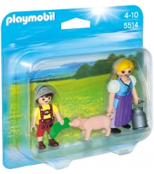 Playmobil Ферма Набор Крестьянка и мальчик 5514pm
