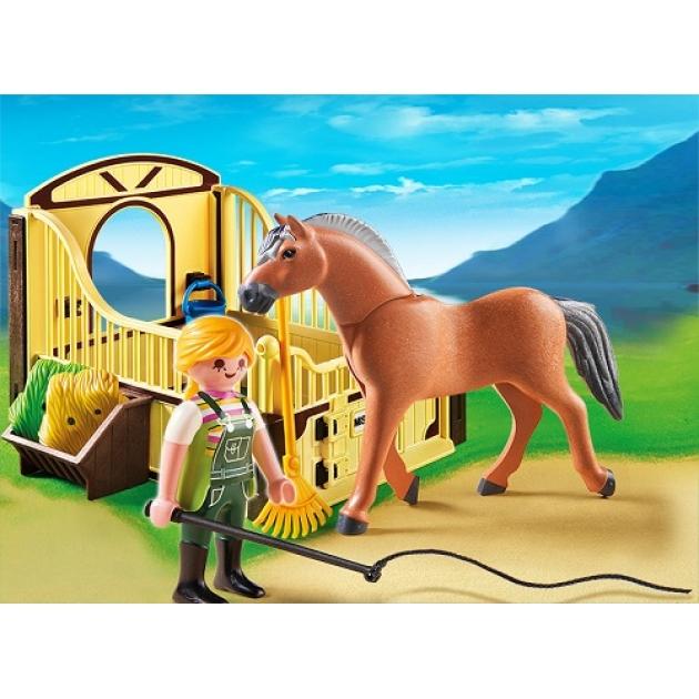 Playmobil Конный клуб Рабочая лошадка и загон 5517pm