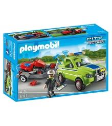 Playmobil Городские службы: Автомобиль с колесной газонокосилкой и аксессуарами 6111pm