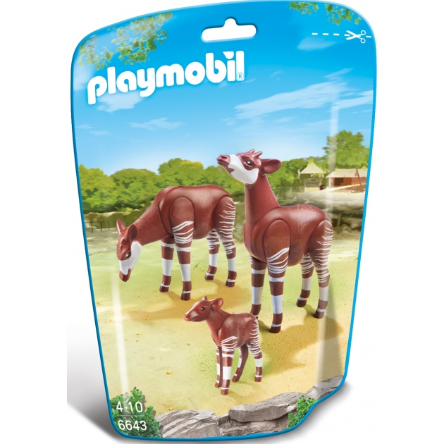 Playmobil Зоопарк: Семья Окапи 6643pm