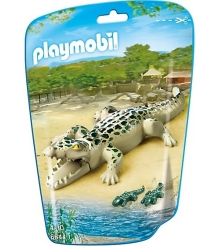 Playmobil Зоопарк: Аллигатор с детенышами 6644pm