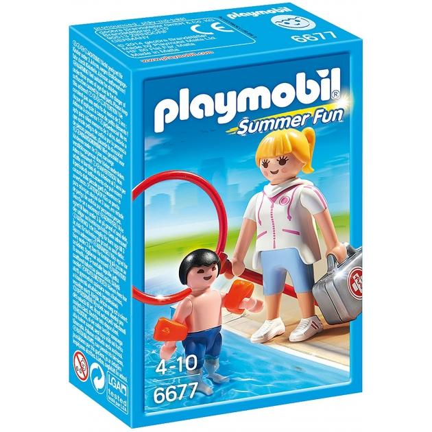 Аквапарк Playmobil Супервайзер в бассейне 6677pm