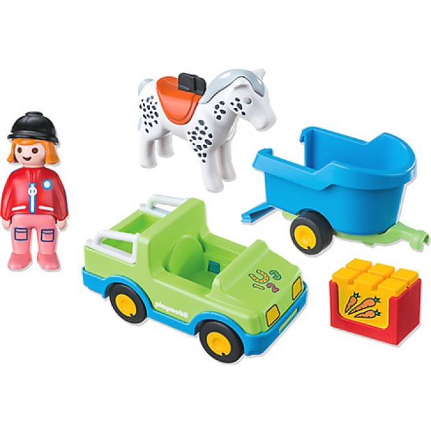 1.2.3. Playmobil Автомобиль с коневозкой 6958pm