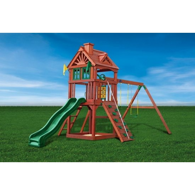 Игровой комплекс для дачи Playnation зеленый замок