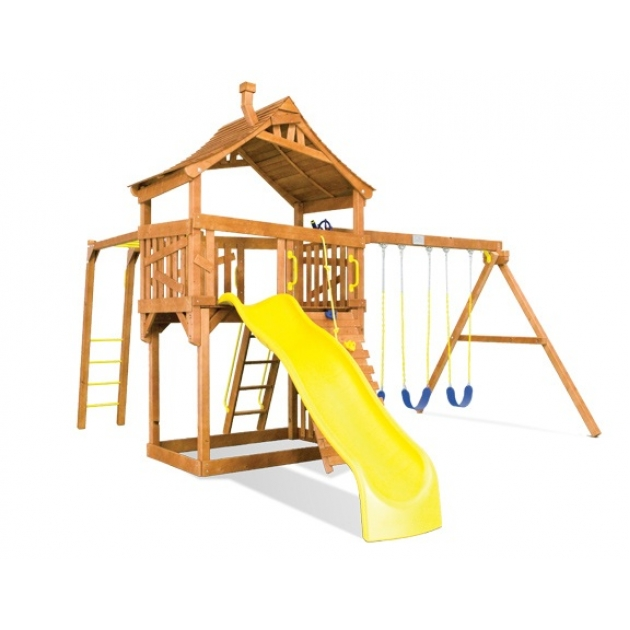 Деревянный игровой комплекс Rainbow Play Systems Carnival Cottage III Monkey Bar