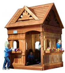 Деревянный домик Rainbow Play Systems Playhouse Design 1