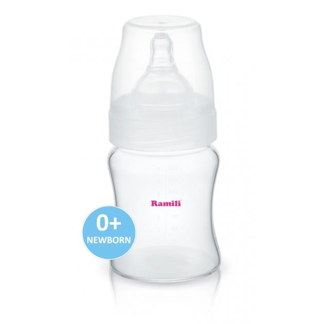 Противоколиковая бутылочка для кормления Ramili AB2100 210 мл 0+ слабый поток