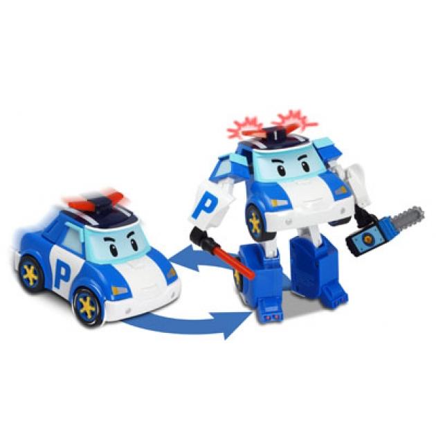 Машинка-трансформер Поли с подсветкой 12,5 см 83094 Робокар Поли